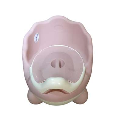 Baby Potty with lid and high backrest- Pink.