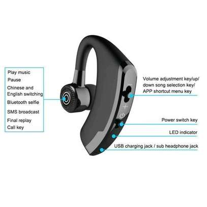 Generic V9 Ear Wireless CSR Bluetooth Headset, Hands Free With Mic For And Android WWD image 3