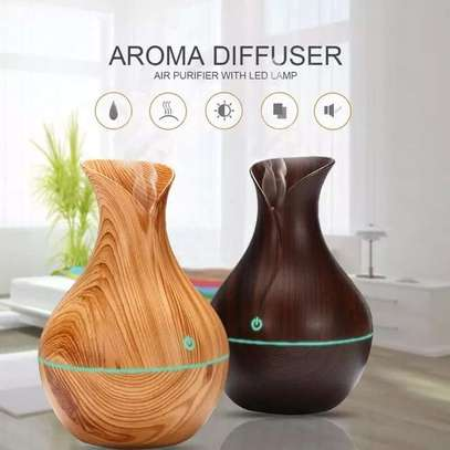 130ml Ultrasonic Humidifier Aromatherapy Oil Diffuser Cool Mist With Color LED Light. image 1