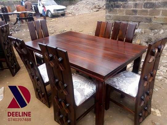 Rectangular 6 Seater Mahogany Framed Dining Sets image 11