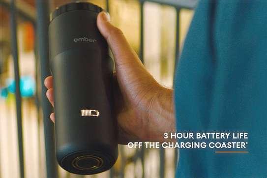 NEW Ember Temperature Control Smart Mug 2, 12 oz, Black, 3-hr Battery Life - App Controlled Heated Coffee Travel Mug - Improved Design image 4