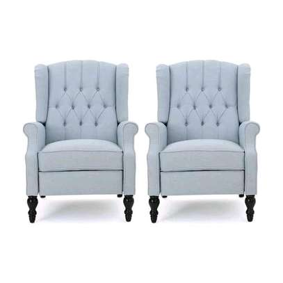 High classic twin wing chairs image 1