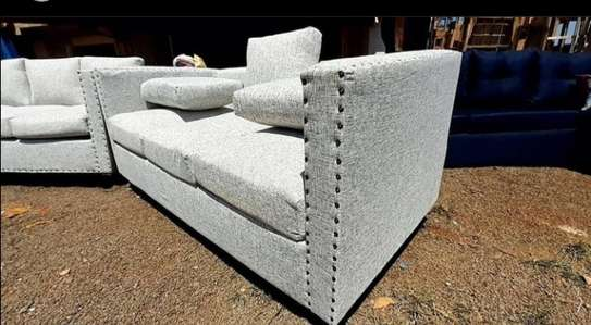 A white back pillowed 3 seater image 1