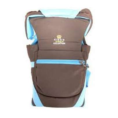 Baby Carrier - Blue & Brown image 1