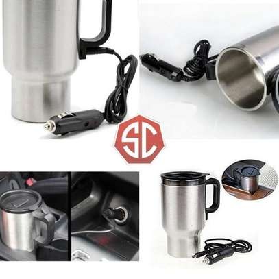 12V Car Electric Thermos Travel Mug Stainless Steel image 3
