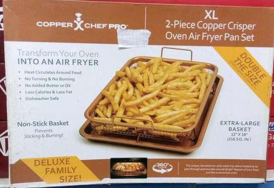 Two piece copper crisper oven air fryer pan set 12×118 image 1