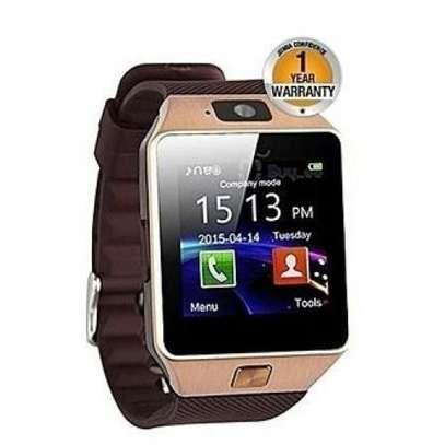 smart Bluetooth Smart Watch -128MB ROM -64MB RAM Camera - Gold image 1