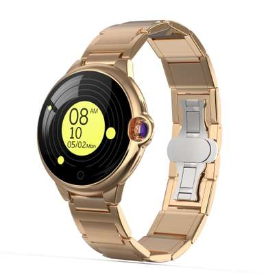 Fitness Health tracker Smart Watch with Hyperbolic Mirror Stainless steel straps image 4