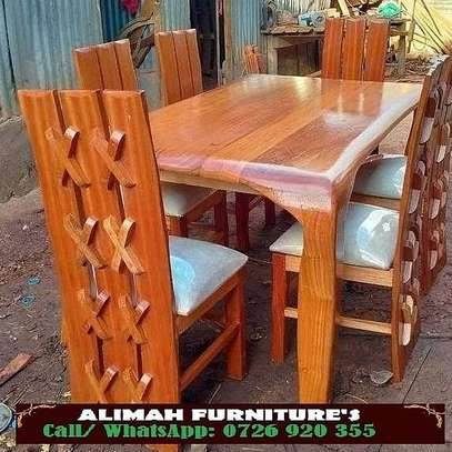 6 seater dining table available image 1