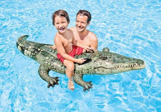 Crocodile Ride-on Swimming Floater image 2