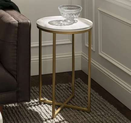High white coffee table image 1