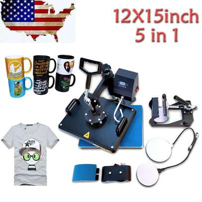 """Combo Heat Press Machine Digital 12x15in"""" for T-shirt Mugs Plate Hats Cup image 8"""