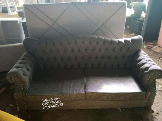 Three seater sofa/grey sofas/buttoned sofas/chesterfield sofas/sofas for three image 5