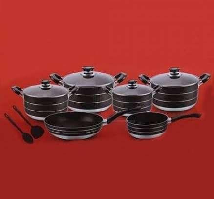 10 piece nonstick cooking pots image 1