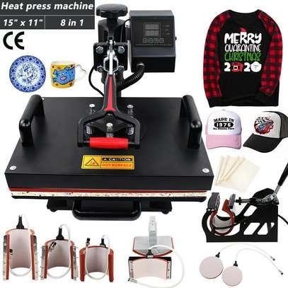 Commercial Heat Transfer Machine, Hot Pressing Vinyl Digital Sublimation for T-Shirt, Mouse Pad, Phone Case, Cotton, Bags image 2
