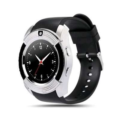 S006 Touch Screen Sports Round Screen Smart Phone Watch - Silver Black image 2