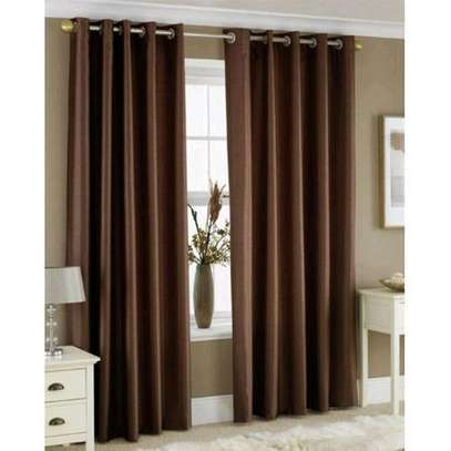 Window brown curtains with free sheers