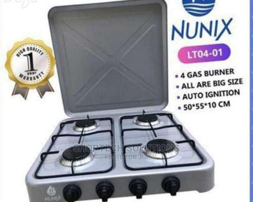 New Model Brand New Nunix 4 Gas Burner Cooker. image 1