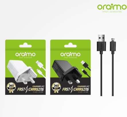 Chargerkit oraimo CU-60ZR+CD - 52BR UK 2A-black/White image 1