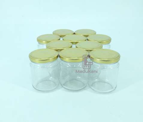 10pcs 212ml Glass Jars Mason Jars with Pop Lids image 1
