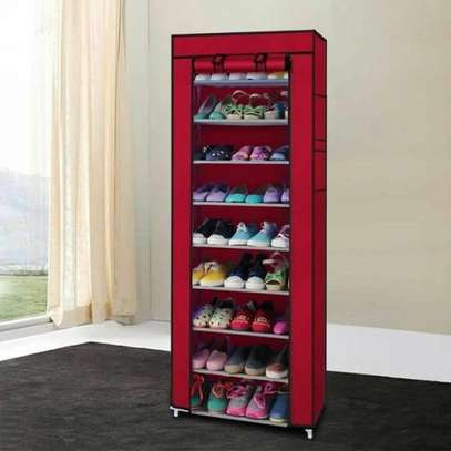 10-Tier Canvas Fabric Shoe Rack Storage Cabinet image 4