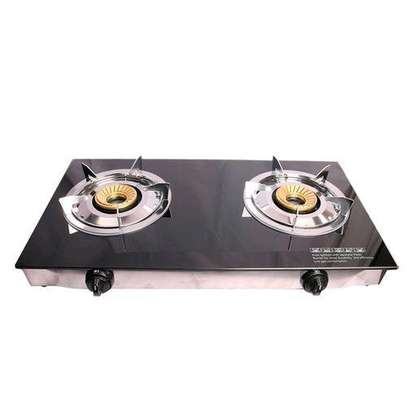 Lyons GS003 Glass Table Top Double Burner Gas Stove