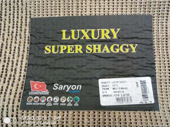 Turkish Shaggy Carpet 5by8 image 3