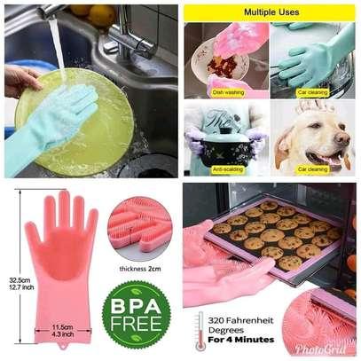 *New multi- purpose  silicone washing gloves image 2