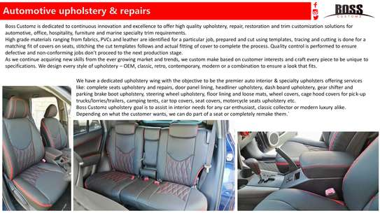 Boss Customz: Complete Interior Car Renew Upholstery image 1