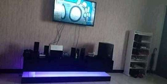 TV stands with lights