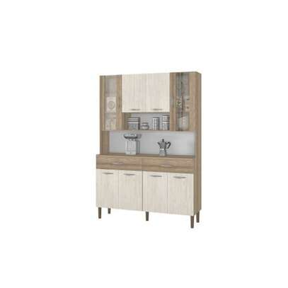 KITCHEN CABINET  BUF032 OFF WHITE $BROWN image 1
