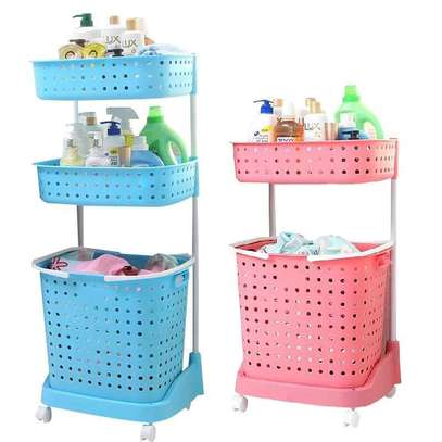 2 tier laundry basket image 1