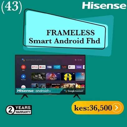 43 Hisense Android Frameless - Black image 1