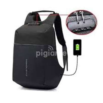 Antitheft Bags With Charging Port And Password Lock - Black image 1