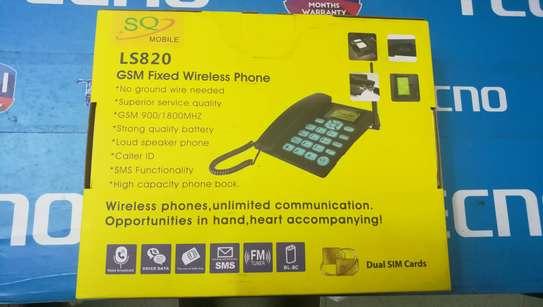 SQ LS 180 Dual Sim Desktop Office Phone With FM Radio 2000mah Battery image 4