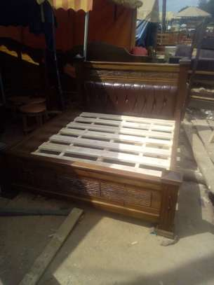 Wooden Bed(Queen size). image 1
