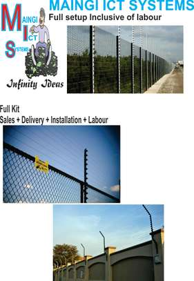 ELECTRIC FENCE  FULL SETUP INCLUSIVE OF AN ALARM AUTOMATED