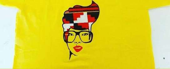 Yellow African Lady T-Shirt