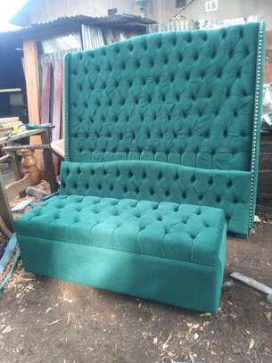 Jungle green 6*6 bed,