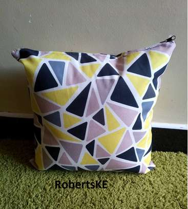yellow blue throw pillow image 1