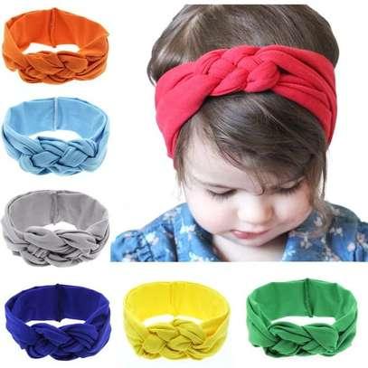 Baby Girl Stretchy Infinity Headwear Hat Headband image 1