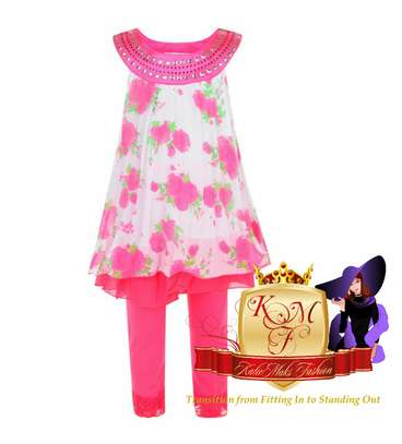 Girls Leggings & Dress Set From UK image 1