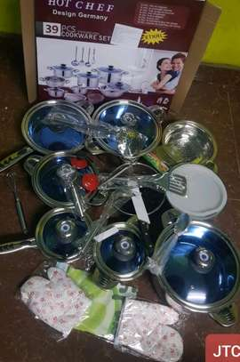 39pc Hot Chef Cookware Set image 1