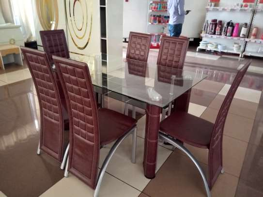 6Seater glass Dining Table image 2