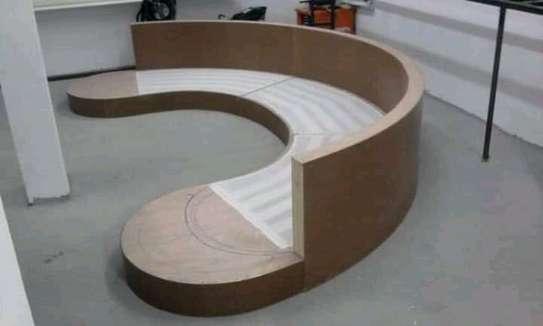 Round/swivel classic sectional U-sofas image 4