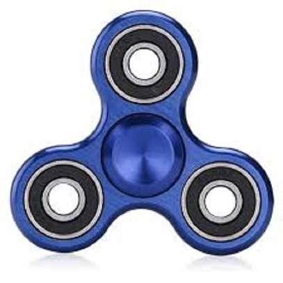 Tri-Spinner Fidget Toy EDC Hand Spinner - Blue image 1