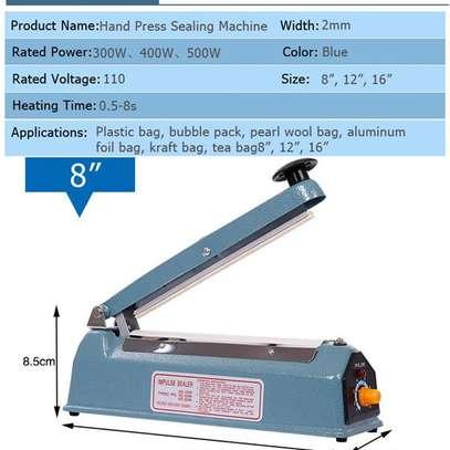 Portable Manual Sealing Machine Light Blue 100MM image 1