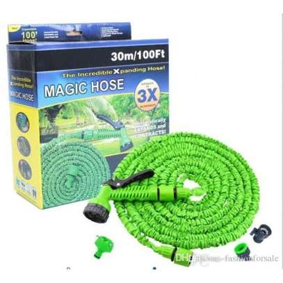 Magic Hose Stretch Flexible Expandable 3X Expanding Garden Hose Pipe Spray - Blue image 2
