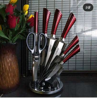 8pcs kitchen knife set with acrylic Stand image 2