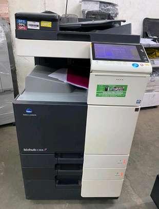 Konica minolta bizhub c358 colored photocopier image 1